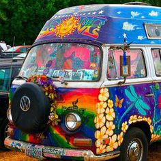 Hippie VW Van-I always wanted one of these!!!!
