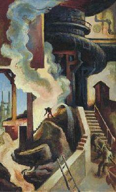 Thomas Hart Benton - The Steel Mill 1930