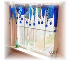 Reserved for Patricia Stained Glass Window Treatment Valance. $150.00, via Etsy.