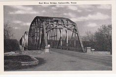 Camp Howze building the old Bridge crossing to ok. old Red River Bridge, on just north of Gainesville, TX ~ boundary between Texas and Oklahoma Gainesville Texas, Red River Valley, Texas And Oklahoma, Central Texas, Texas History, Texas Homes, Sydney Harbour Bridge, Old Things, Ih