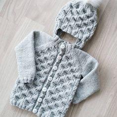 ☆ Faunalue og Faunajakke ☆ Baby Jumper, Handmade Baby, Baby Knitting, Romper, Free Pattern, Knit Crochet, Baby Kids, Winter Hats, Barn