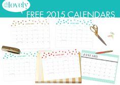 Kalender met dots 2015 | via ohsolovelyblog.com