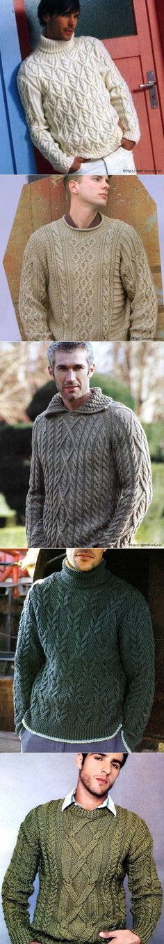 Knitting Patterns Men Collection of pullovers for beloved men Cool Sweaters, Cable Knit Sweaters, Tricot D'art, Knit Fashion, Pulls, Hand Knitting, Knitwear, Knitting Patterns, Knit Crochet