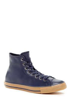 Chuck Taylor All Star Leather High Top Sneaker (Unisex) by Converse on @nordstrom_rack