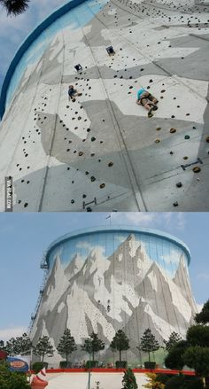 German power plant transformed into a climbing wall