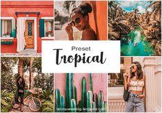 La Turquesa blog - Preset Tropical Grátis! Presets Do Lightroom, Lightroom Gratis, Vsco Presets, Feeds Instagram, Vsco Themes, Photo Editing Vsco, Tropical, Photography, Presents
