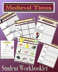 Medieval Times Middle Ages Student Mini Workbooklet