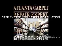 YOUTUBE    Step by Step New Carpet Installation https://youtu.be/8sYnvQzHxxk