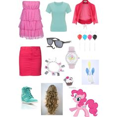 """MLP: FiM ~ Pinkie Pie"" by annabanana158 on Polyvore"