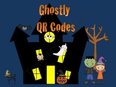 Halloween Ghostly QR Code Activities from Sweet Integrations...With a Taste of Technology on TeachersNotebook.com (15 pages)  - Halloween | QR Codes | Students follow the QR codes to find the treats at the end. Also, included are complete a Haunted House drawing and fill in the blanks for a Halloween story. | by Sweet Integrations on TeachersNotebook.com (15 pages) Fun Halloween t