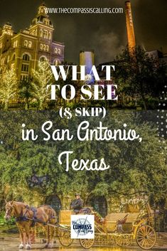 to See (& Skip) in San Antonio, Texas San Antonio is a wonderful and authentic city in Texas. There are so many things to do, how do you choose? In this article, we outline the places you should see (& skip) in San Antonio. Camping In Texas, Texas Roadtrip, Texas Travel, Travel Usa, Euro Travel, Travel Logo, Texas Vacations, Family Vacation Destinations, Best Vacations