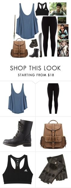 """The Maze Runner"" by queenxvanessa ❤ liked on Polyvore featuring RVCA, New Look, Charlotte Russe, adidas and Maison Fabre"