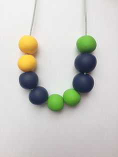 Clay bead necklace, polymer clay necklace, statement necklace