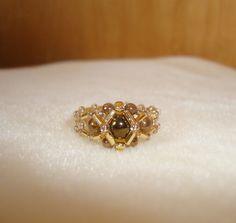 Beautiful Handmade ring buggle ring seed by RonniesBeadedCreatio, $11.99