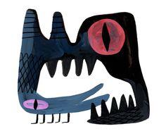 """Lou Romano,  Gouache doodle, 4 1/2"""" X 5 1/2"""""""