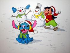 Winter Lilo and Stitch by DannyNicholas