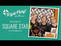 Triple Play: 3 Double Square Star Halloween Quilts with Jenny Doan of Missouri Star (Video Tutorial) - YouTube