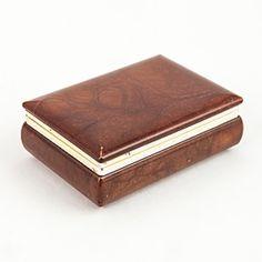 Vintage Burnt Umber Alabaster Box $265.00 - Available @ Cavalier by Jay Jeffers #cavalier #cavaliergoods #vintage #alabaster #brass #box