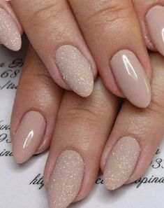 Gorgeous nude nail polish will make your fingers look slenderer and longer. Gorgeous nude nail polish will make your fingers look slenderer and longer. If you are short of nail design ideas, read this article that will surely help you. Happy try. Frensh Nails, Prom Nails, Matte Nails, Diy Nails, Glitter Nails, Hair And Nails, Acrylic Nails, Diy Manicure, Manicure Ideas