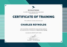 A Certificate Of Dog Training With A Rainbow Mosaic Border And A
