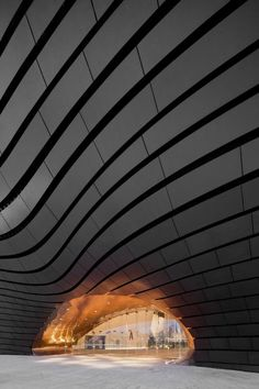 Ordos Museum in China by MAD Architects- I enjoy the wavy-looking ceiling. I have tried to incorporate the wavy-line type art into many of my ceramics pinch pots.