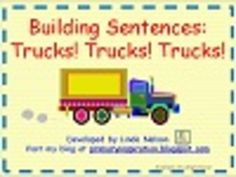 Free cards for building sentences