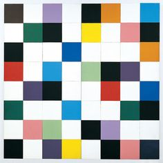 """Ellsworth Kelly - Colors Fir a Large Wall"""", 1951,  Consists of 64 canvas panels fused together as in a collage. (see  Biography, Analysis of his Works 