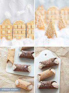 Everyday Wonders Gingerbread Houses Christmas Baking Sweet Recipe Blog Christmas Jingle Bells Icing Snow