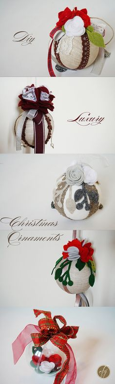 DIY Christmas Luxury Ornaments