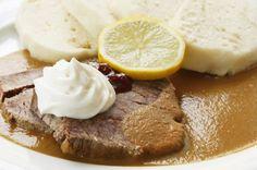 Svíčková - pečená Pudding, Desserts, Food, Tailgate Desserts, Deserts, Custard Pudding, Essen, Puddings, Postres