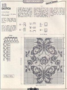 Häkeln & Filethäkeln Tischläufer - crochet tablerunner