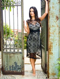 French Lace Vintage Dress <3 <3