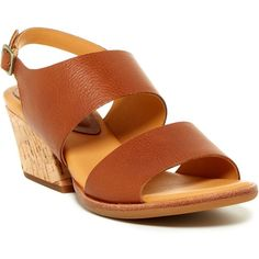 Kork-Ease Patterson Sandal (125 CAD) ❤ liked on Polyvore featuring shoes, sandals, brown, brown shoes, kork ease shoes, leather strappy sandals, open toe leather sandals and open toe shoes