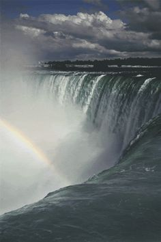Photo: Amazing nature The Beauty of Nature Beautiful Waterfall The Beautiful… Niagara Waterfall, Beautiful World, Beautiful Places, Falling Gif, Waterfall Fountain, Beautiful Waterfalls, Nature Scenes, Amazing Nature, Belle Photo