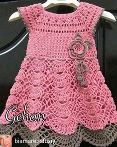 Vestidos a crochet para nina 2019