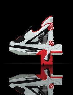 A Font That Is Composed Of Nike Air Jordan Sneakers