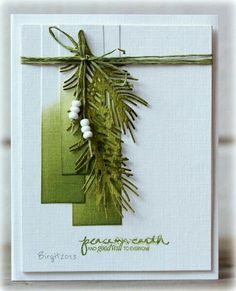 Peace by Biggan - Cards and Paper Crafts at Splitcoaststampers Cas Christmas Cards, Christmas Card Crafts, Homemade Christmas Cards, Homemade Cards, Handmade Christmas, Holiday Cards, Karten Diy, Stamping Up Cards, Winter Cards