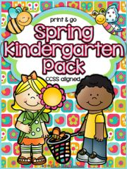 Spring Kindergarten Pack ~ Print & Go ~ CCSS Aligned! Enter for your chance to win 1 of 2. Spring Kindergarten Pack ~ Print & Go ~ CCSS Aligned  (82 pages) from The Teaching Treehouse on TeachersNotebook.com (Ends on on 03-12-2016) This packet contains Spring themed alphabet practice, rhyming, syllables, patterns, numbers 1-20, counting, adding, subtracting, shapes, and more! 81 ready to use, no prep printables in ink saving black and white. Great for review!  *Aligned to Kindergarten…