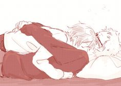 Hugs.. Haikyuu!! Tsukishima x Yamaguchi