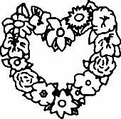 Üvegfestés sablon : Szív virágokból/Valentin nap, Virág Valentin Nap, Shrek, Crochet Necklace, Symbols, Flowers, Diy, Amor, Kids, Crochet Collar