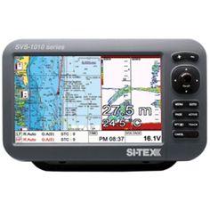 SI-TEX SVS-1010CF 10 Chartplotter/Sounder Combo w/Internal GPS Antenna & Navionics+ Card