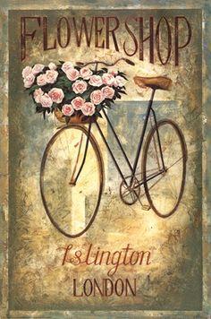 Islington Flower Shop Wholesale Art Print at Lieberman's Vintage Labels, Vintage Ephemera, Vintage Cards, Vintage Paper, Vintage Postcards, Vintage Signs, Decoupage Vintage, Images Vintage, Vintage Pictures