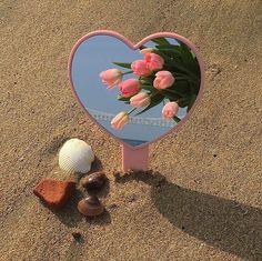 Peach Aesthetic, Korean Aesthetic, Flower Aesthetic, Summer Aesthetic, Aesthetic Photo, Aesthetic Pictures, Heart Mirror, Wall Collage, Aesthetic Wallpapers