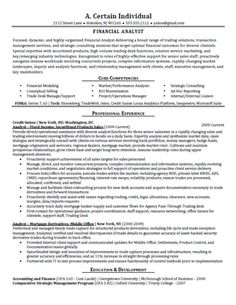 Monster Sample Resume Financial Analyst Resume Sample  Financial Analyst Sample Resume .
