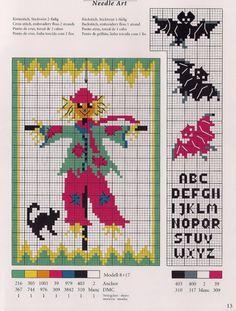 Halloween cross stitch chart