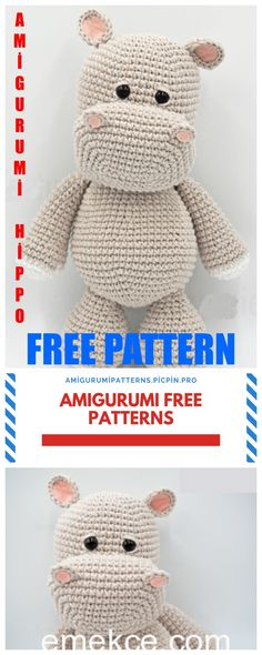 Latest Pic Crochet animals patterns Tips Amigurumi Cute Hippopotamus Free Crochet Pattern – Amigurumi Patterns Teddy Bear Patterns Free, Crochet Amigurumi Free Patterns, Crochet Animal Patterns, Stuffed Animal Patterns, Crochet Teddy Bear Pattern Free, Crochet Hippo, Crochet Animal Amigurumi, Diy Crochet Animals, Magic Ring