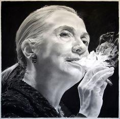 Political art: Trillary Clinton by Eric Yahnker