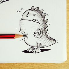 Pencil poke to Pocco =)   Toons in Real World - By: @maniknratan   #toonsinrealworld