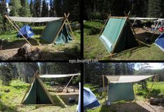 Viking Tent by eqos. This is what I need, except with a more secure attachment system for the sun shade.