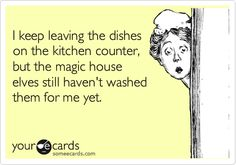 Or any other housework.